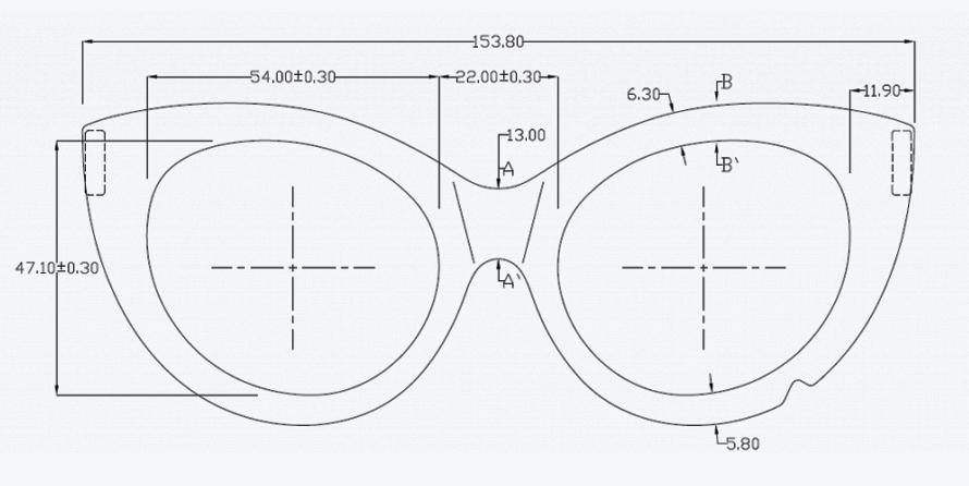 Эскиз очков - чертежи